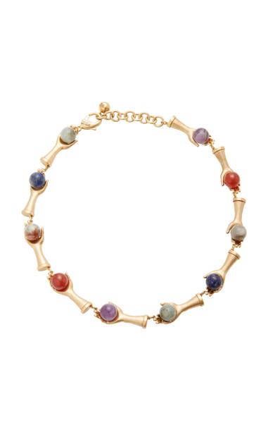 Lulu Frost Medera Riviera Gold-Plated Multi-Stone Necklace