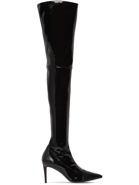 ALEXANDRE VAUTHIER 100mm Helena Stretch Vinyl Boots in black