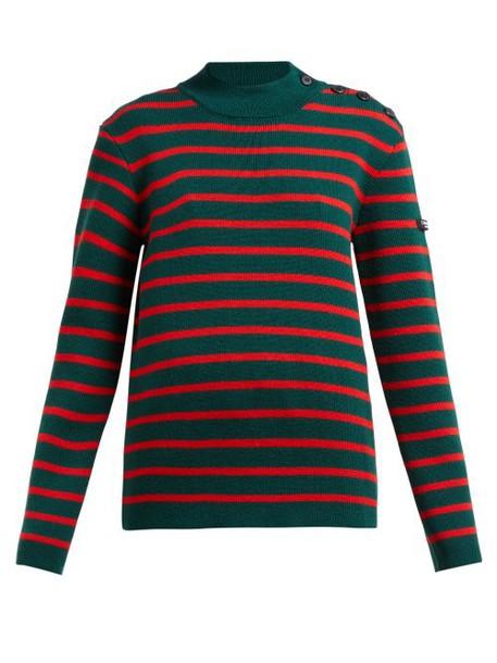 Calvin Klein 205w39nyc - Striped Wool Sweater - Womens - Green Multi