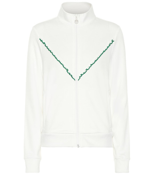 Tory Sport Cotton-blend track jacket in white
