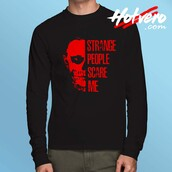 top,american horror story,american horror story quote,noramal people scare me,long sleeve shirt