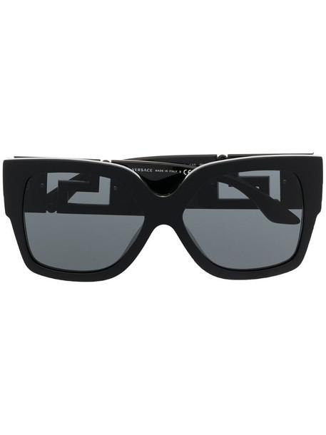 Versace Eyewear Greca oversized sunglasses in black