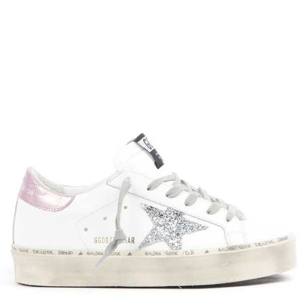 Golden Goose White And Pink Leather Superstar Sneakers