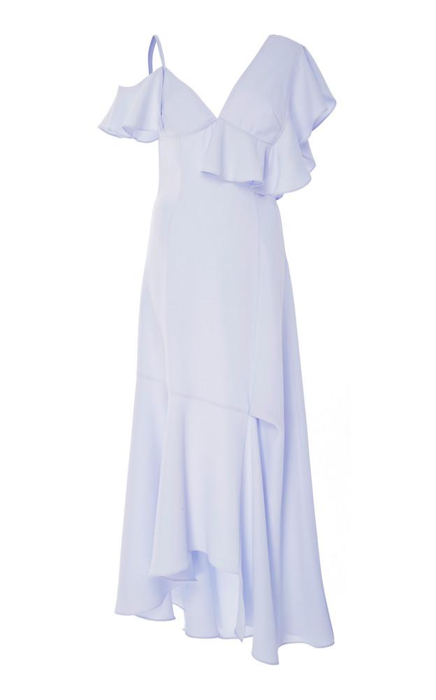 Adeam Asymmetrical Ruffle Dress in blue