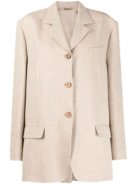 Acne Studios oversized single-breasted blazer in neutrals