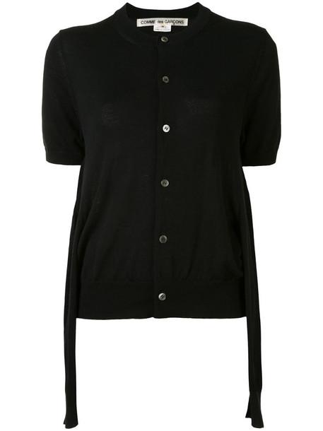 Comme Des Garçons double sleeves cardigan in black