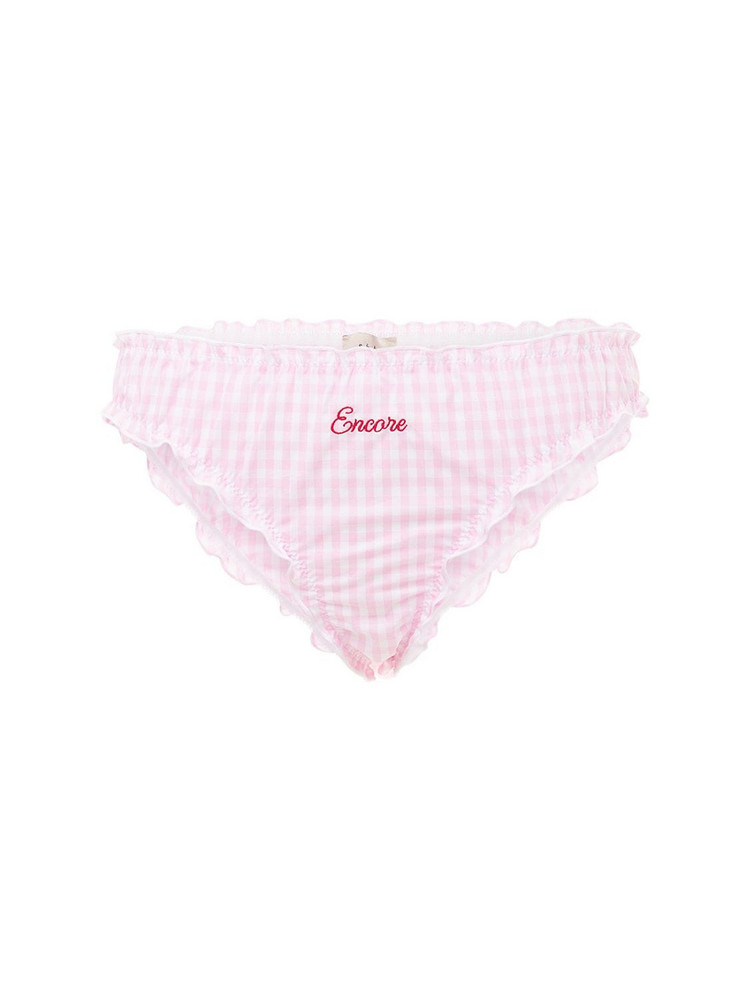Encore Shh Gingham Briefs in pink / white