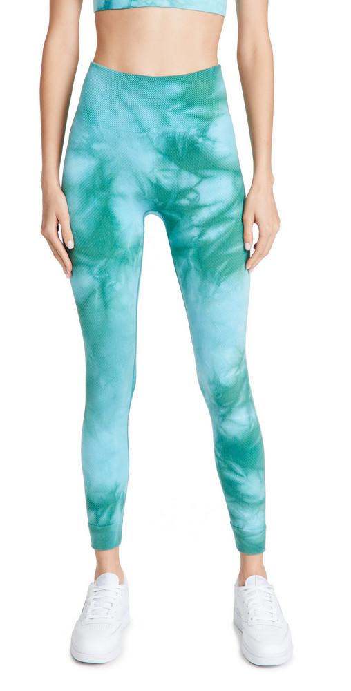 Sweaty Betty Mindful Seamless 7/8 Yoga Leggings in green