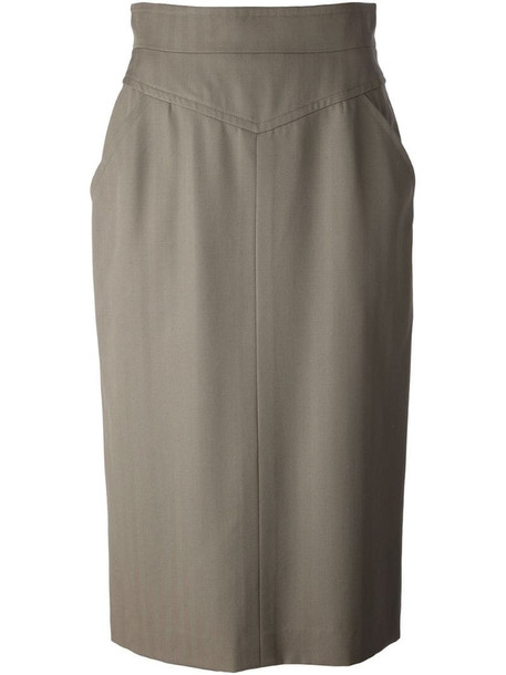 Christian Dior pre-owned midi skirt in green
