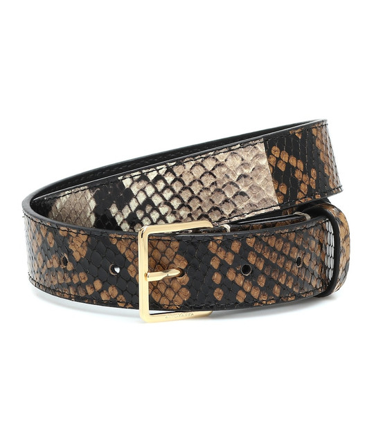 Altuzarra Snake-effect leather belt in brown