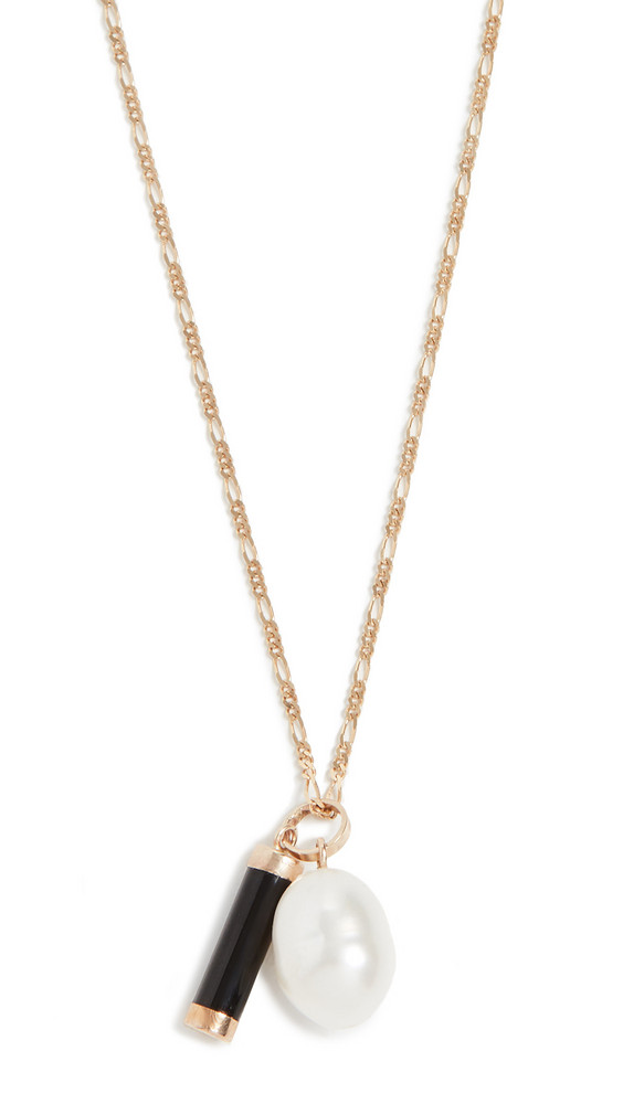 Loren Stewart 14k Pearl And Baril Pendant Necklace in gold / yellow