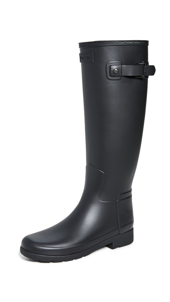 Hunter Boots Refined Tall Matte Boots in black