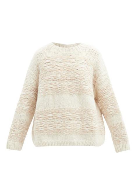 Lauren Manoogian - Slip-stitched Alpaca-blend Sweater - Womens - White Multi