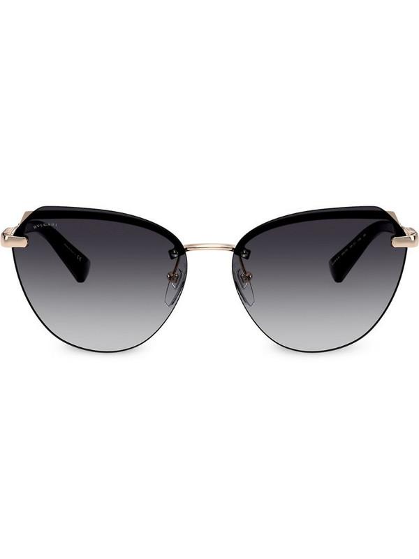 Bvlgari oversized cat-eye tinted sunglasses in gold