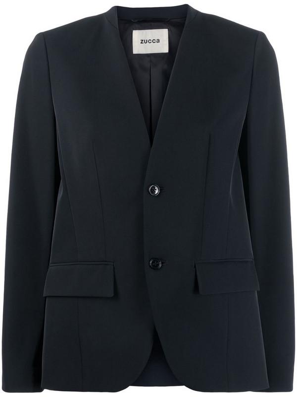 Zucca fitted blazer in black