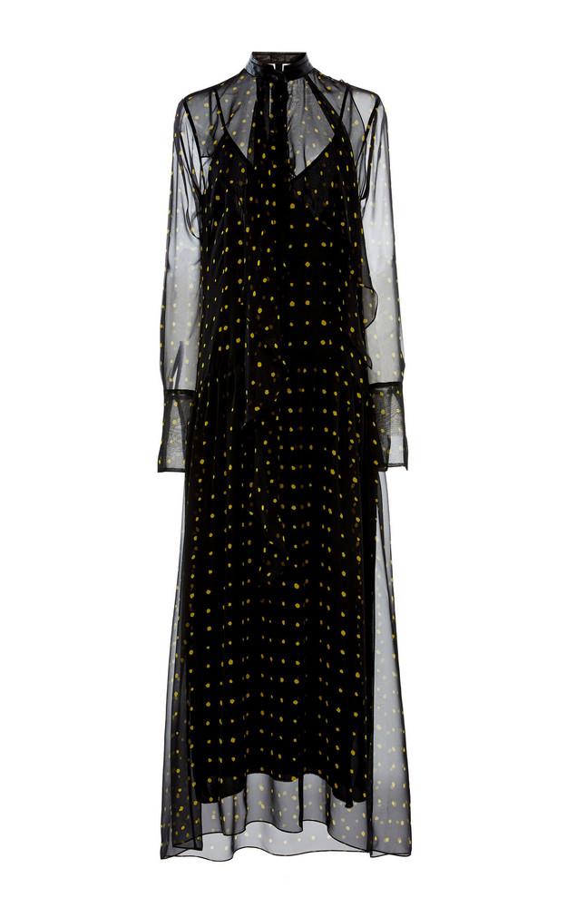 Petar Petrov Alisson Sheer Polka-Dot Silk Dress Size: 34 in print