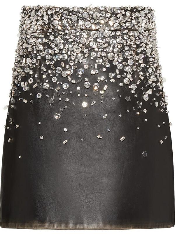 Miu Miu embellished vintage skirt in black