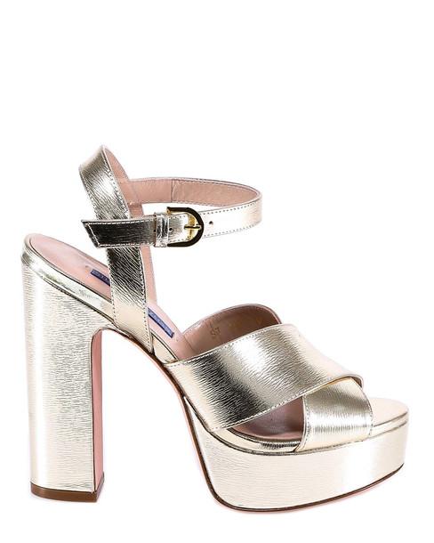 Stuart Weitzman Joni Sandals in gold