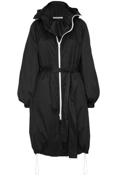 Givenchy - Hooded Printed Shell Coat - Black