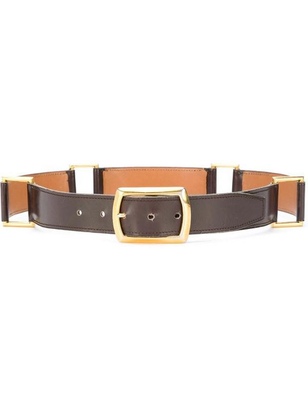 Hermès pre-owned loops buckled belt in brown