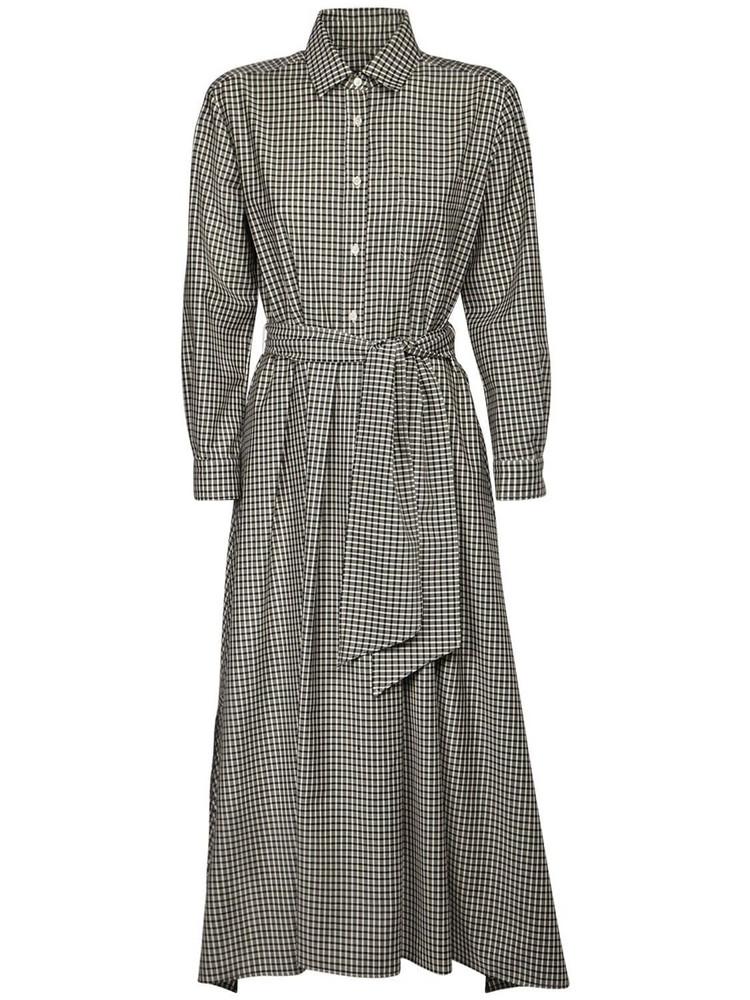 MAX MARA WEEKEND Checked Wool Gabardine Shirt Dress