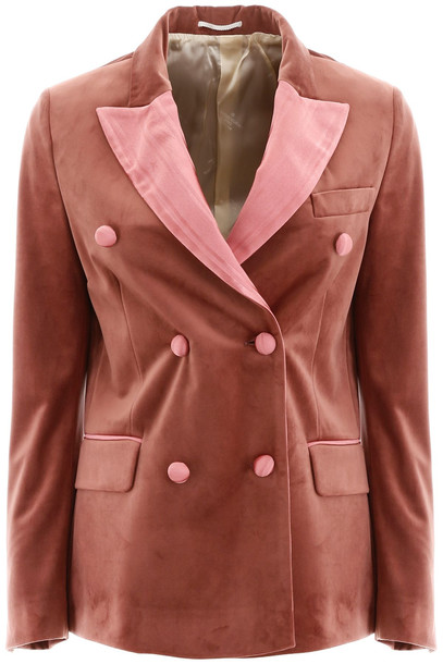 Golden Goose Velvet Jacket in peach / pink