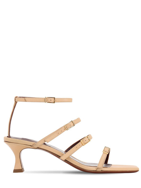 MANU ATELIER 50mm Leather Sandals in khaki