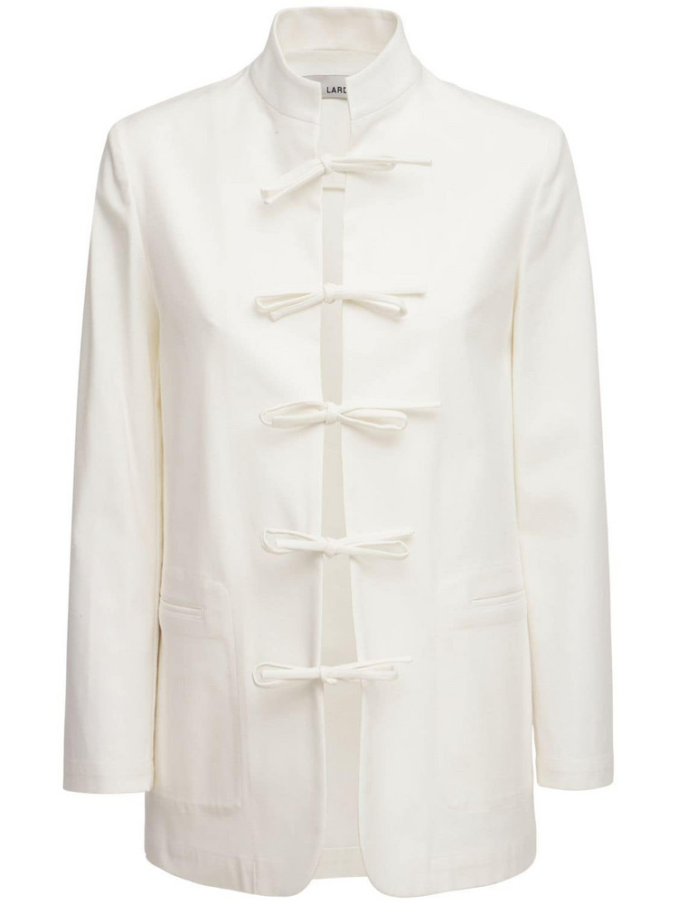 LARDINI Gozen Cotton Jacket in white