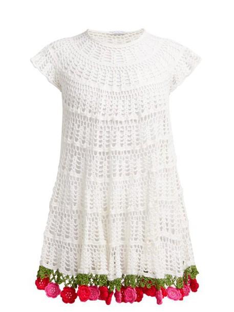 My Beachy Side - Carmen Cotton Crochet Mini Dress - Womens - White Multi