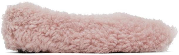 Marni Pink Shearling Ballerina Flats