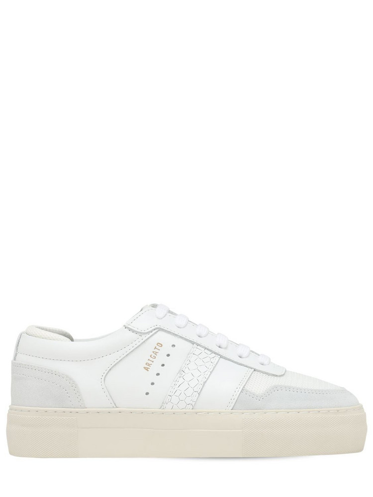 AXEL ARIGATO 30mm Platform Leather Sneakers in white