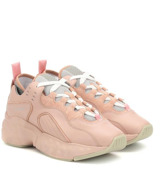 Acne Studios Manhattan leather sneakers in pink