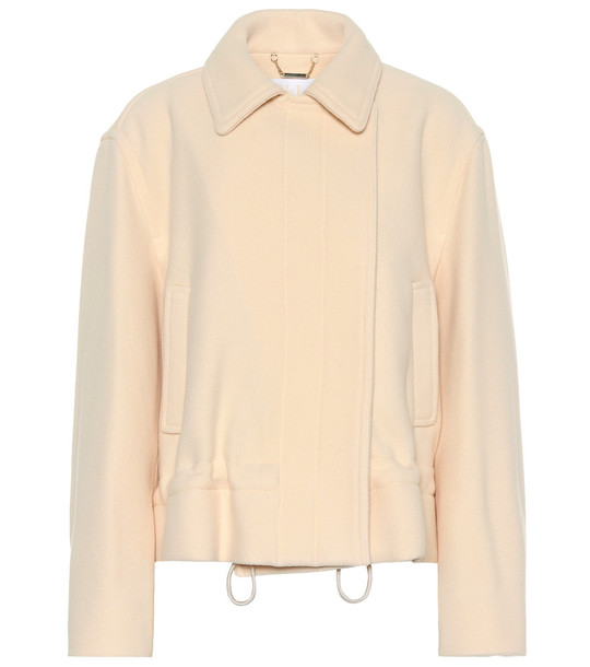 Chloé Wool-blend coat in beige