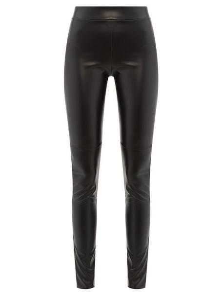 Wolford - Estella Faux-leather Leggings - Womens - Black
