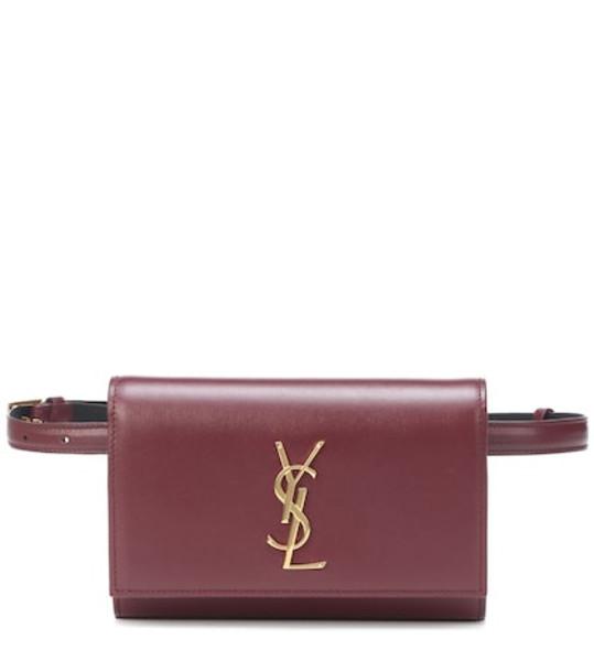 Saint Laurent Kate leather belt bag in red