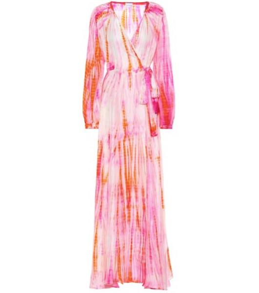 Anna Kosturova Tie-dye silk maxi dress in pink