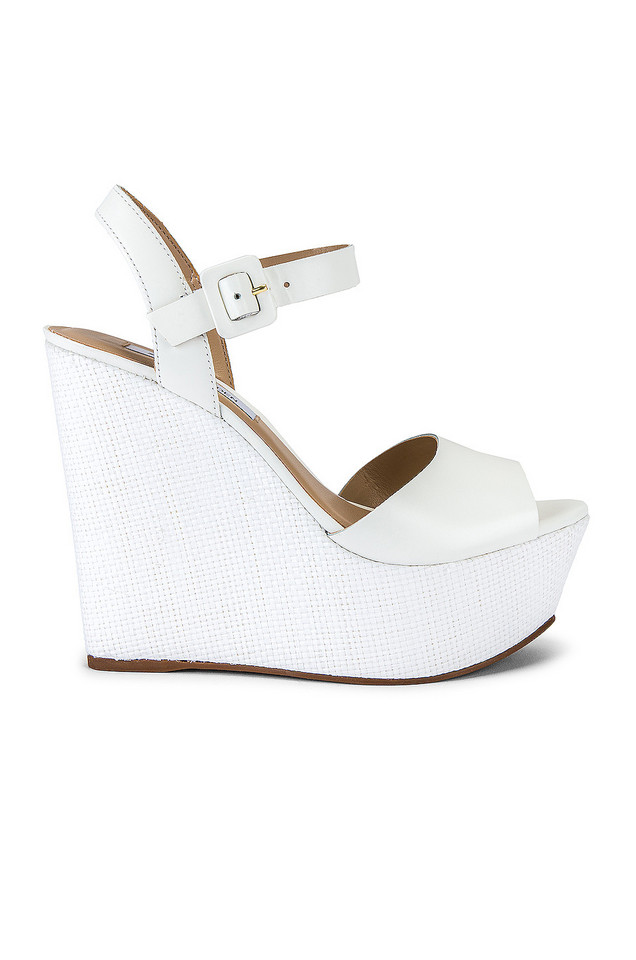 Steve Madden Citrus Wedge in white
