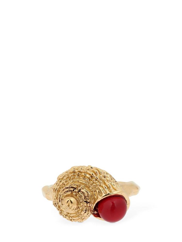 AURELIE BIDERMANN Roudoudou Ring in gold / coral