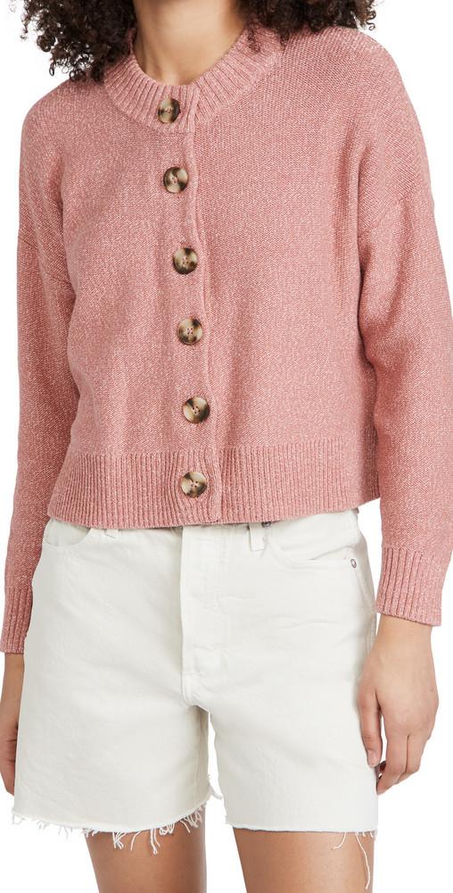 Madewell Broadway Cardigan Sweater in rose