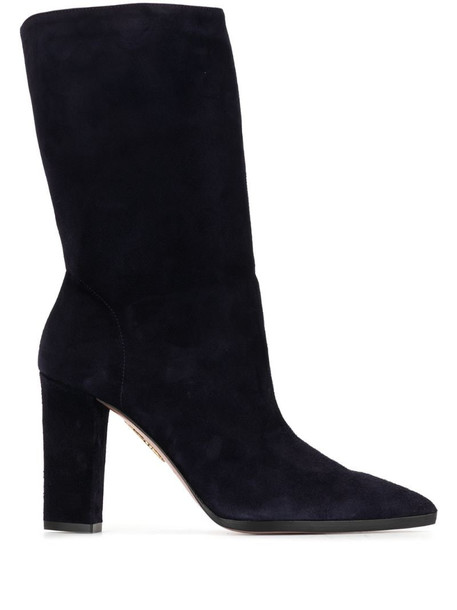 Aquazzura suede ankle boots in blue