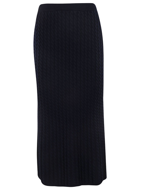Alessandra Rich Cable Knit Tube Skirt in blue