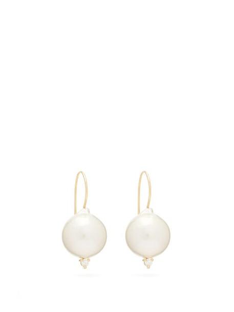 Mizuki - Diamond, Pearl & Gold Earrings - Womens - Pearl