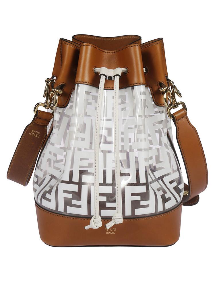 Fendi Mon Tresor Bucket Bag in white