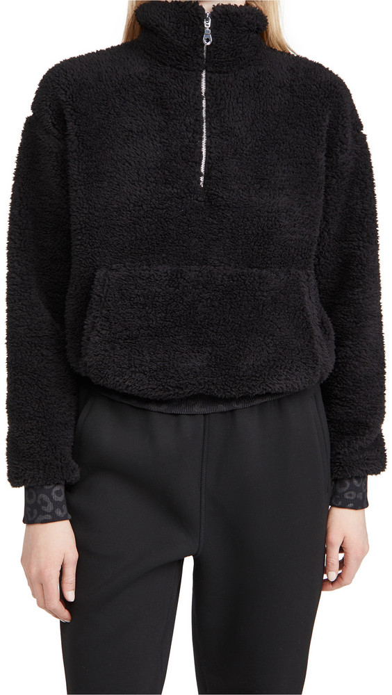 Phat Buddha Honestly Kate Harriet Fleece Sweater in black