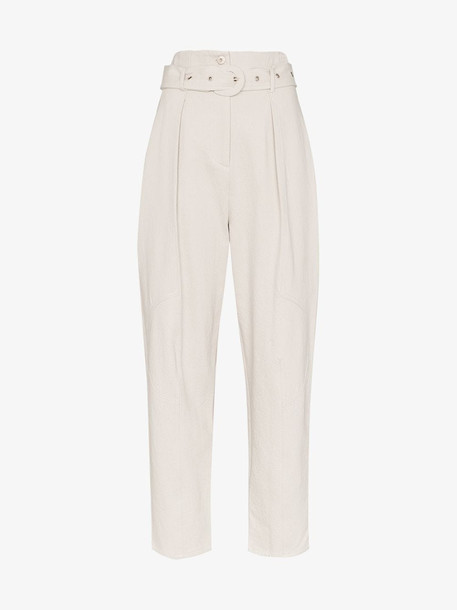 Low Classic high waist wide leg trousers in grey
