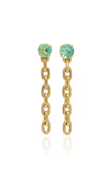 Jack Vartanian 18K Gold Emerald Earrings