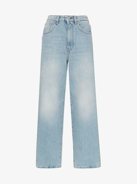 Toteme high-waisted flared jeans in blue