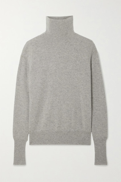 Nili Lotan - Ralphie Cashmere Turtleneck Sweater - Gray
