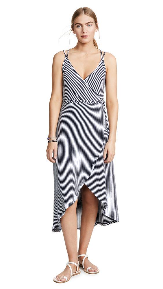Z Supply Capri Wrap Dress in black / white