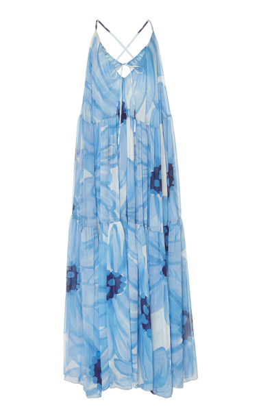 Jacquemus La Robe Mistral Floral-Print Chiffon Maxi Dress Size: 34